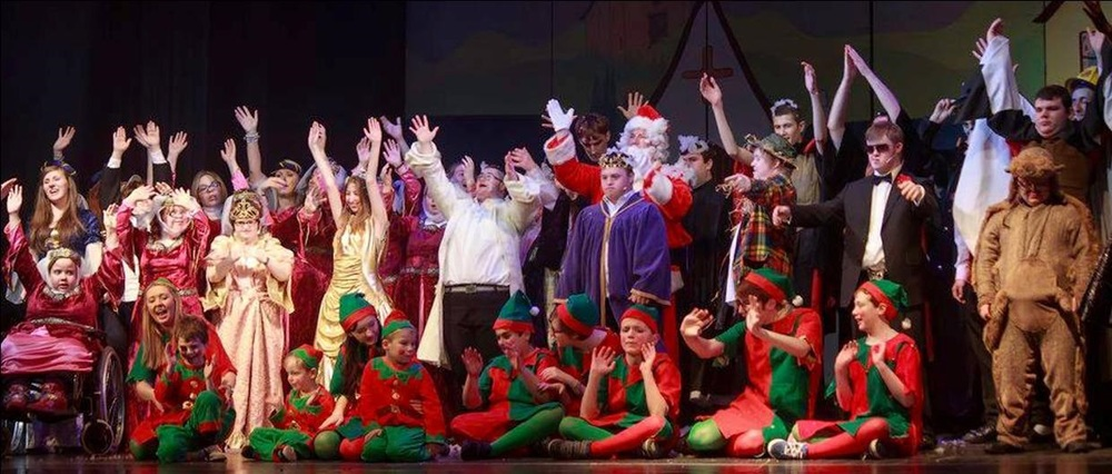 The Aspire2Perform & Rising Stars Companies in 'Once Upon A Panto'