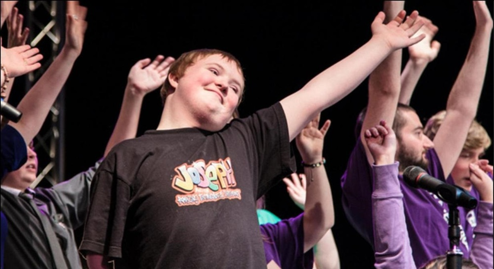 Jack on stage with the Aspire2Perform Company in a Centrestage Showcase