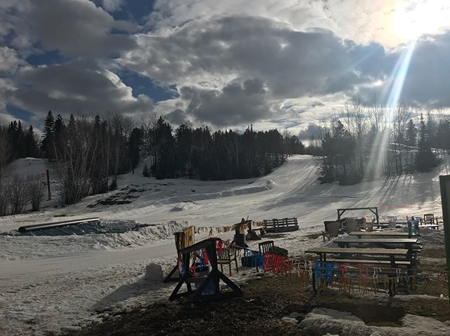 "Our annual Slush Cup event is tomorrow! Come check out the different set up this year. We have a 30' tube on the side of the pool as well as a spine ""lizard"" snaking down the run for added fun! Beer gardens and live music as always.  The rest of the hill will be closed and lift tickets are only $10! See you tomorrow!  #ridethelizard @falcon_ridge"