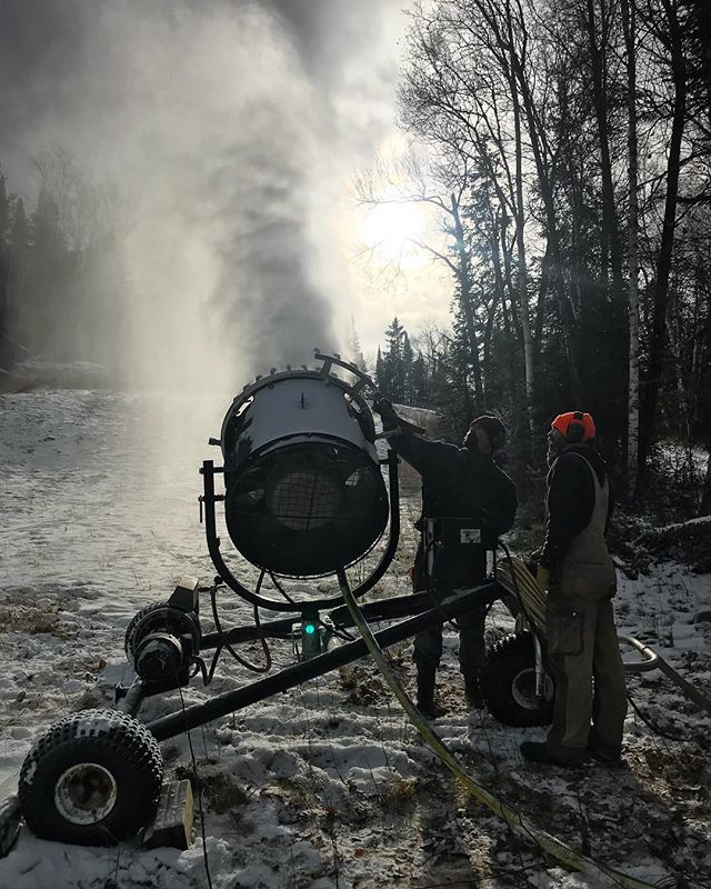 Makin' snow! AKA best day of the year!