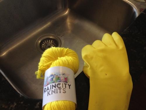 Rubber glove!