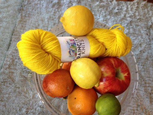 And then um, ACTUAL LEMONS! Just to show how aptly named the colourway is.