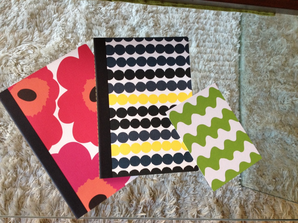 A little bit of Marimekko gift shop swag. Who could resist? A couple of notebooks and a cool postcard in my favourite green. I think these are both useful and beautiful.
