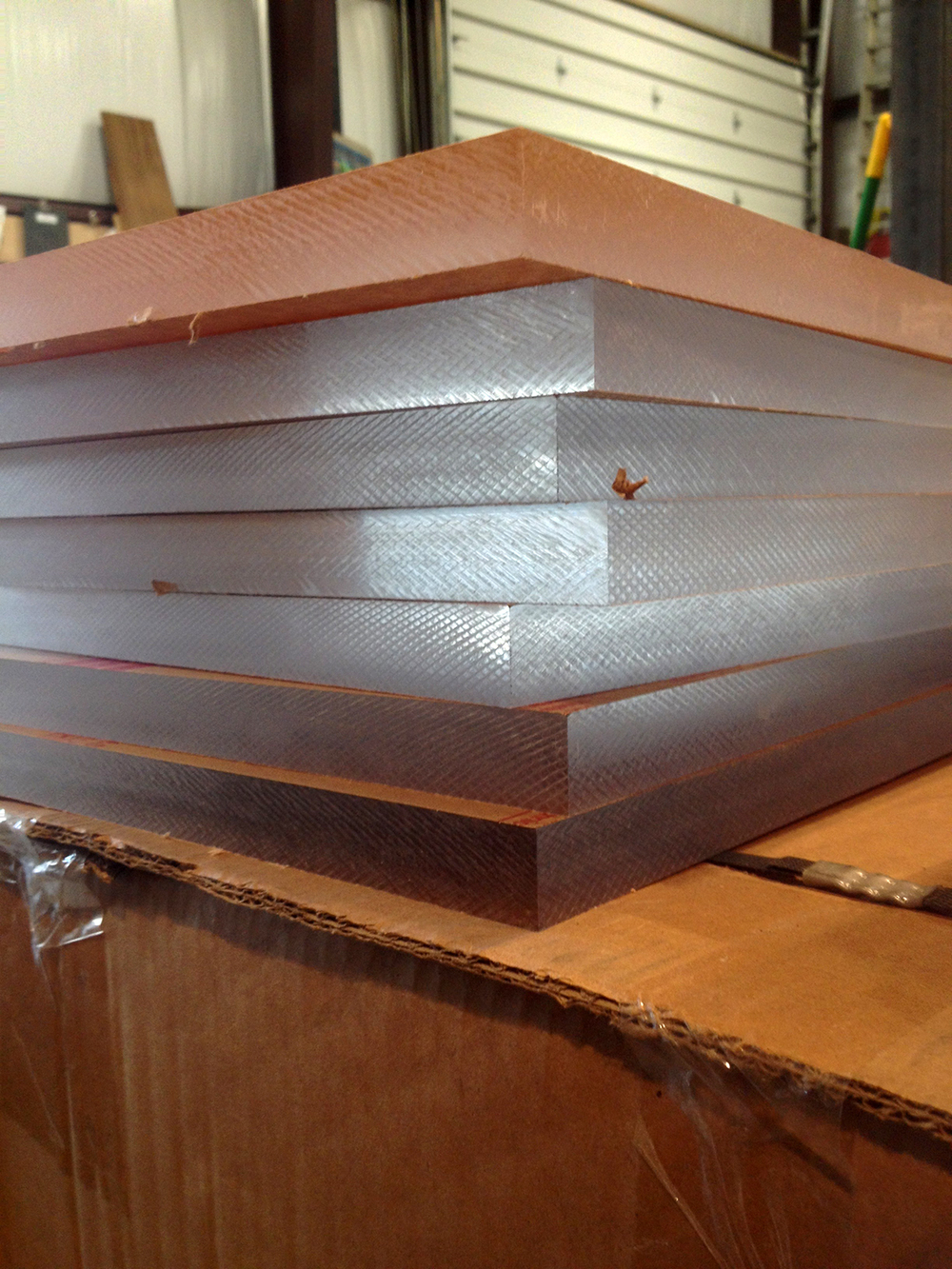 Clear 1'' thick plexi, ready to go!