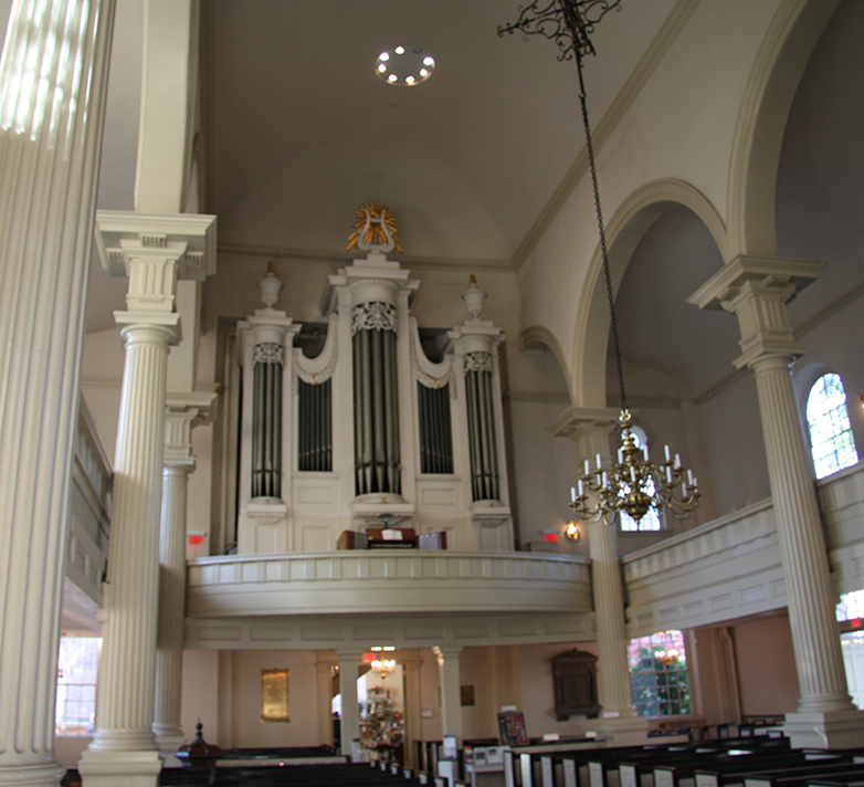 The original organ case, prior to restoration