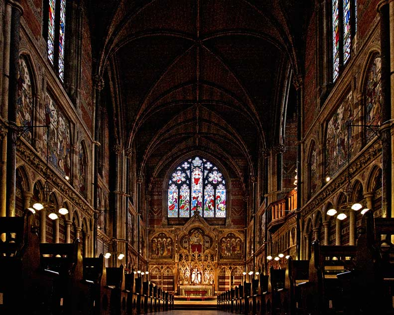 Oxford, England - Keble College Chapel.