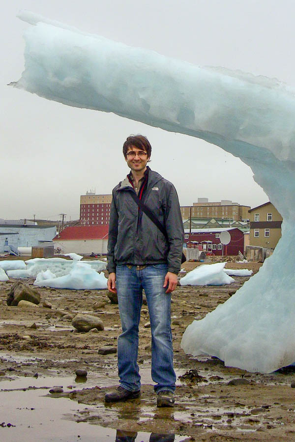 Casey and an iceberg