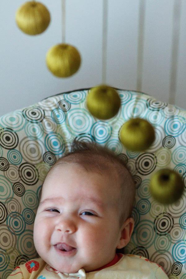 Iris loves her Montessori mobile