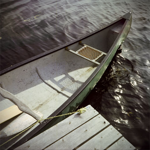 Pike Bay, Ontario - a canoe at the dock