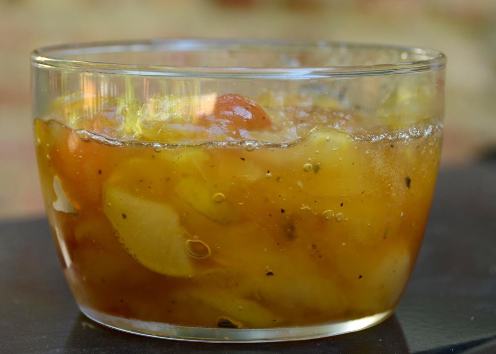 apple, Pear and lemon thyme jam