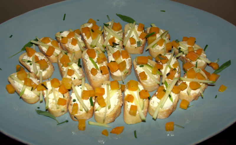 butternut sage apple crostini