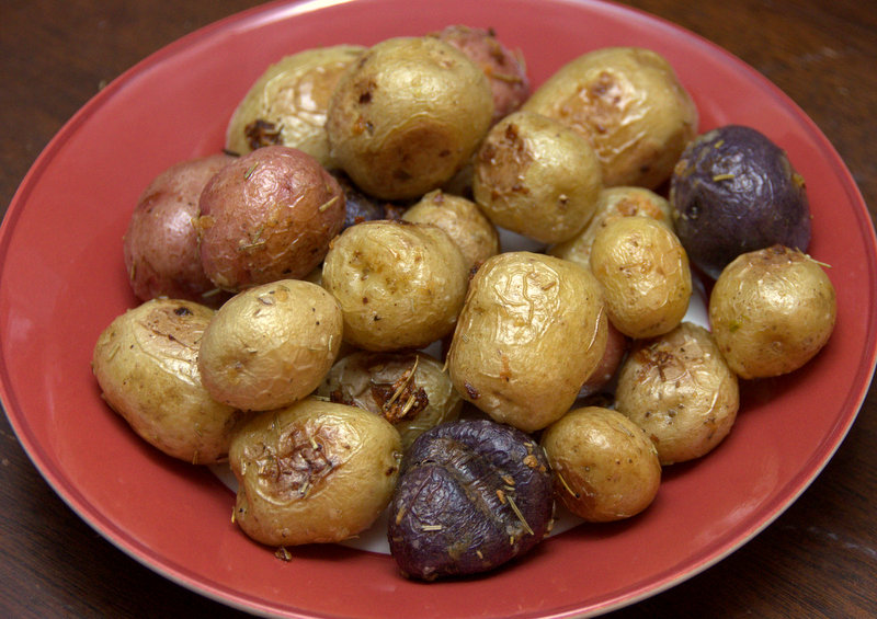 rosemary-garlic roasted potatoes