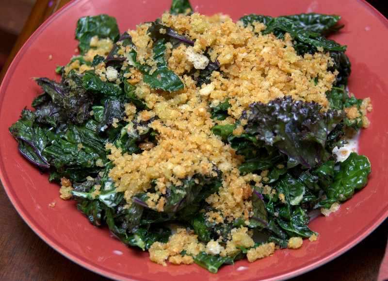 creamed kale with garlicky breadcrumbs