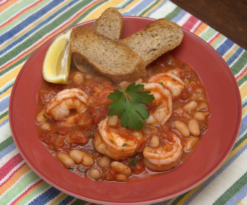 shrimp cassoulet