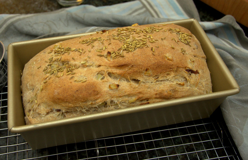 fennel and sultana whole wheat bread