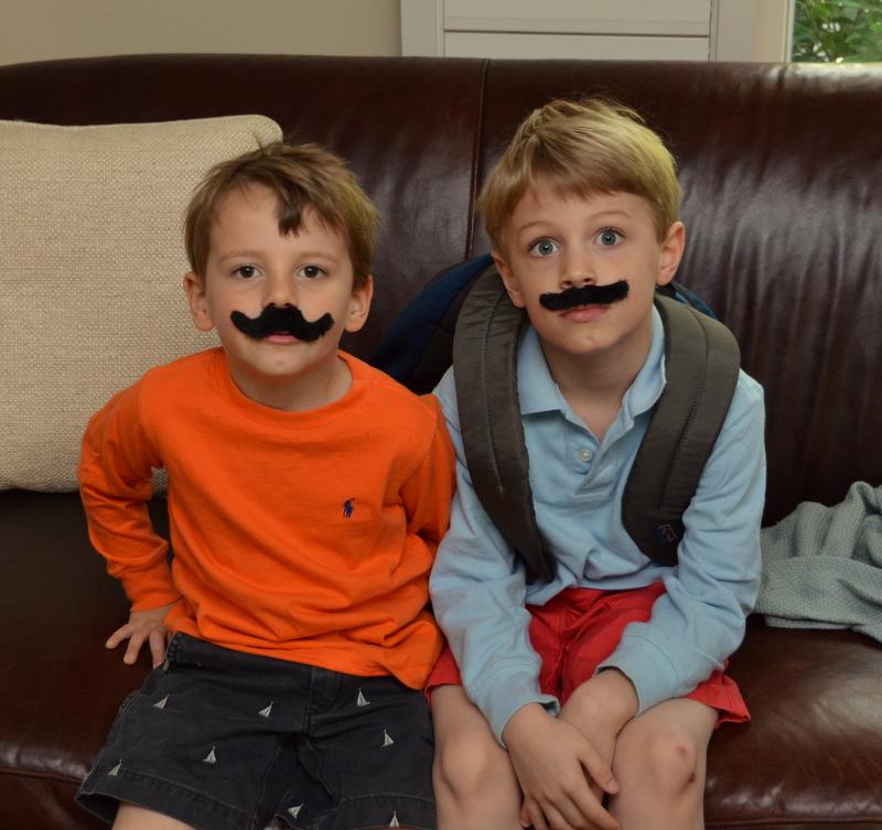 my mustachioed boys
