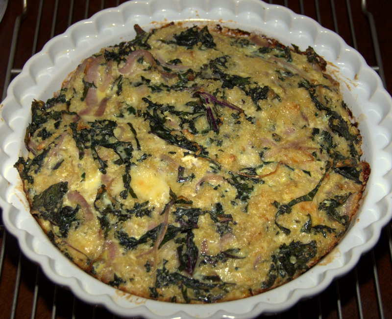 kale and quinoa quiche