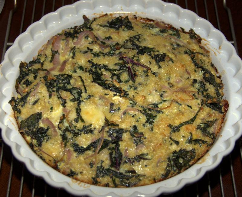 kale and quinoa quiche