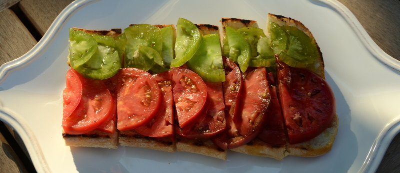 grilled ciabatta and tomatoes