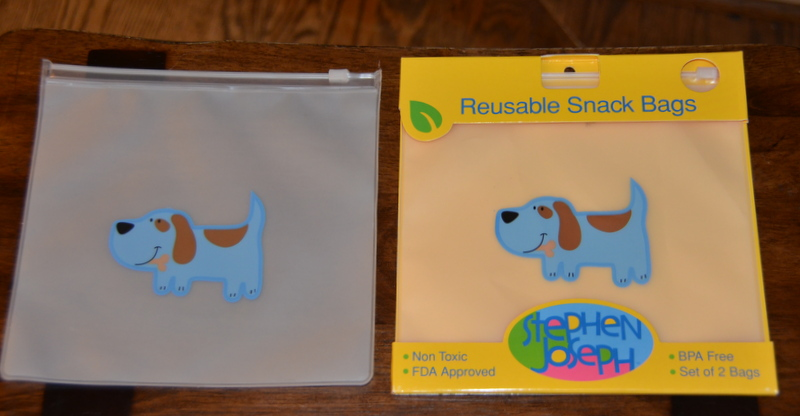 reusable, BPA-free snack bags by Stephen Joseph