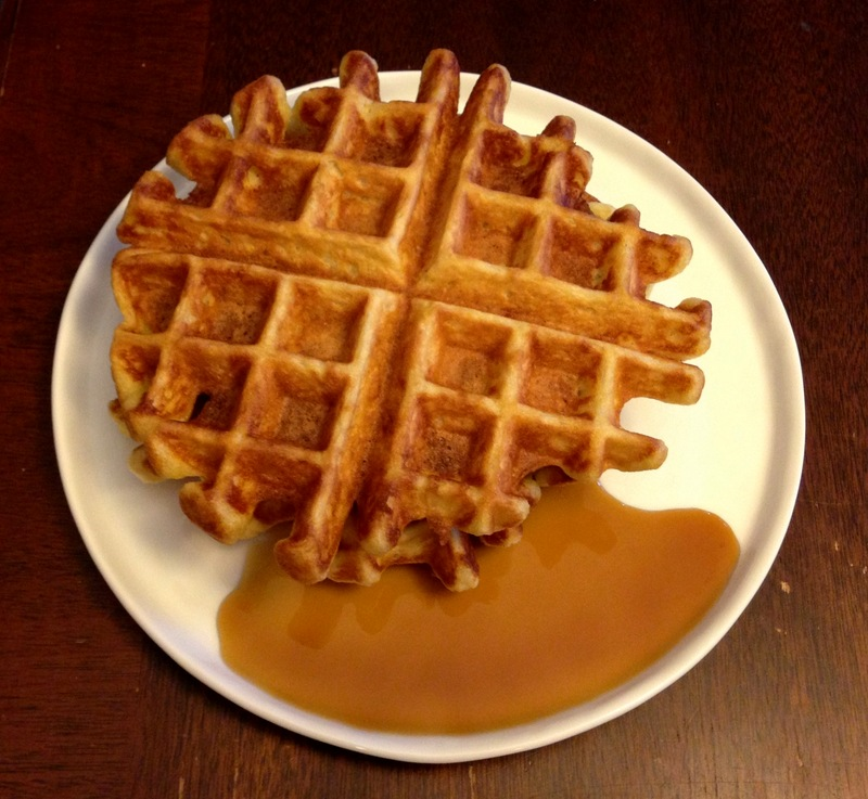 buttermilk waffles and maple syrup