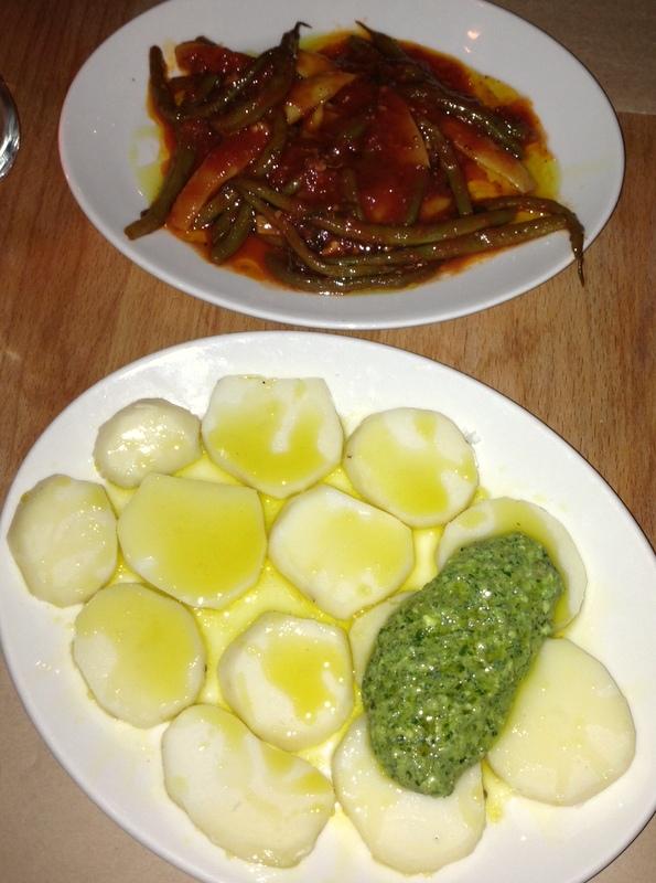 ghibellina's patate lesse and fagiole umido