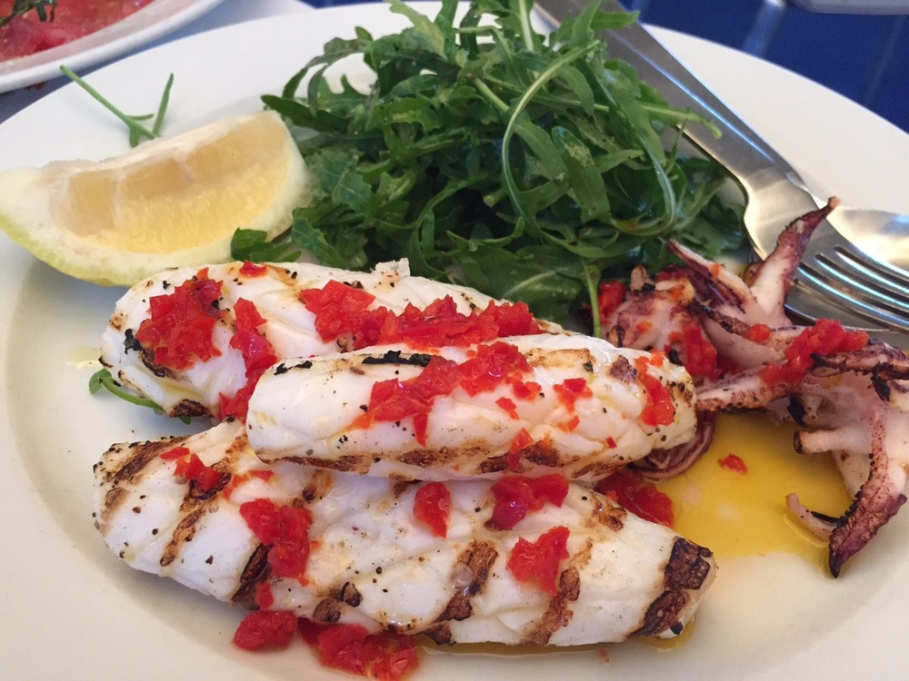 chargrilled squid