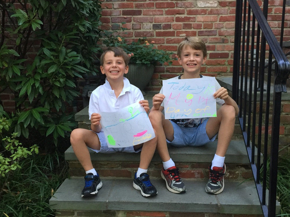First day of first and fourth grades