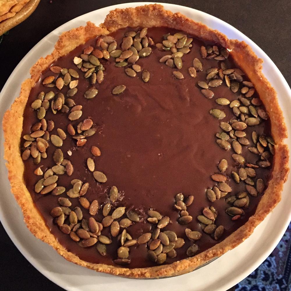 TG 2015 bourbon-caramel pumpkin tart
