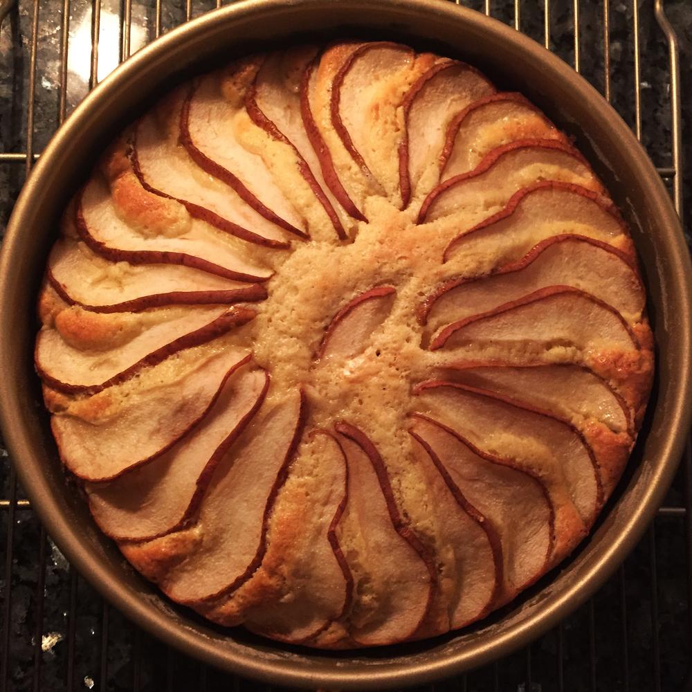 cardamom pear cake