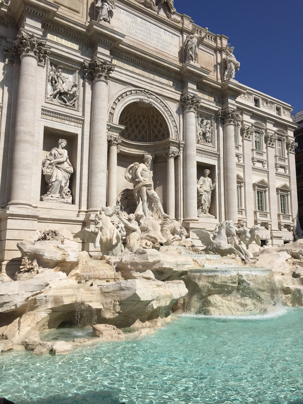 The Trevi Fountain, open again!