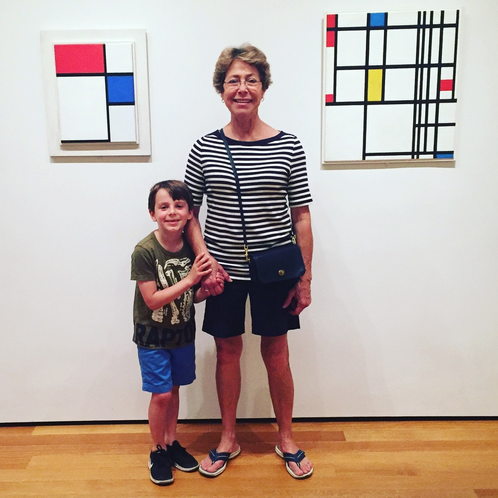 """Mom and Ol and """"Piet Mondrian"""""""
