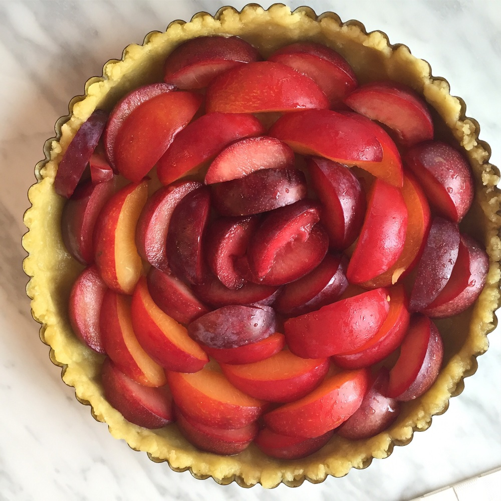 It never gets old- the plum tart.