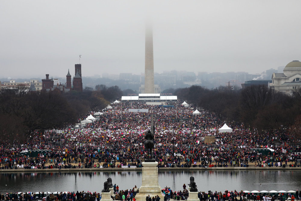 EXTREME hat tip to Chang W. Lee of the NY Times; please don't mind that I borrowed your gorgeous photograph (but of course if you do, I'll take it down.) Women's March in DC