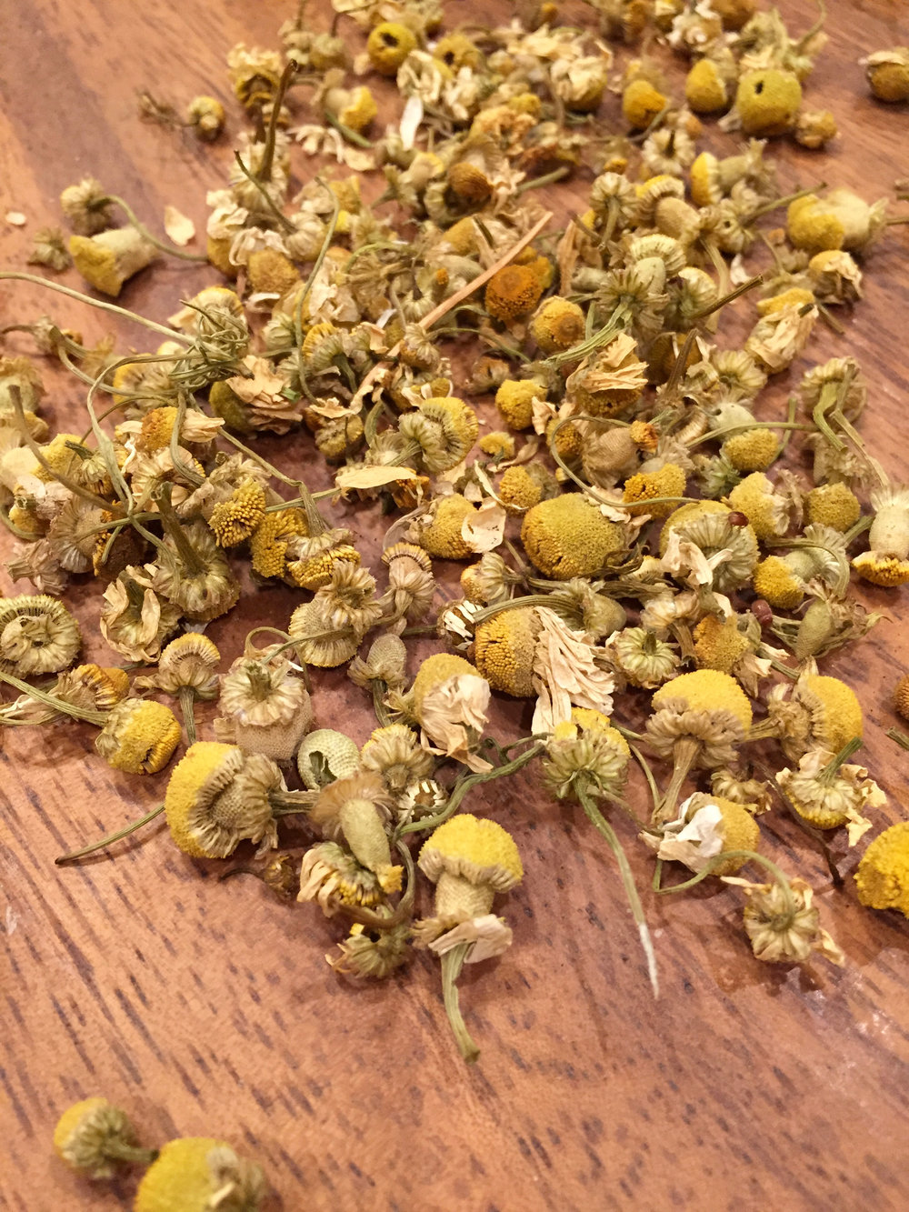 whole camomile flowers for tea- I just drank a cup of the tea, and it is SO good