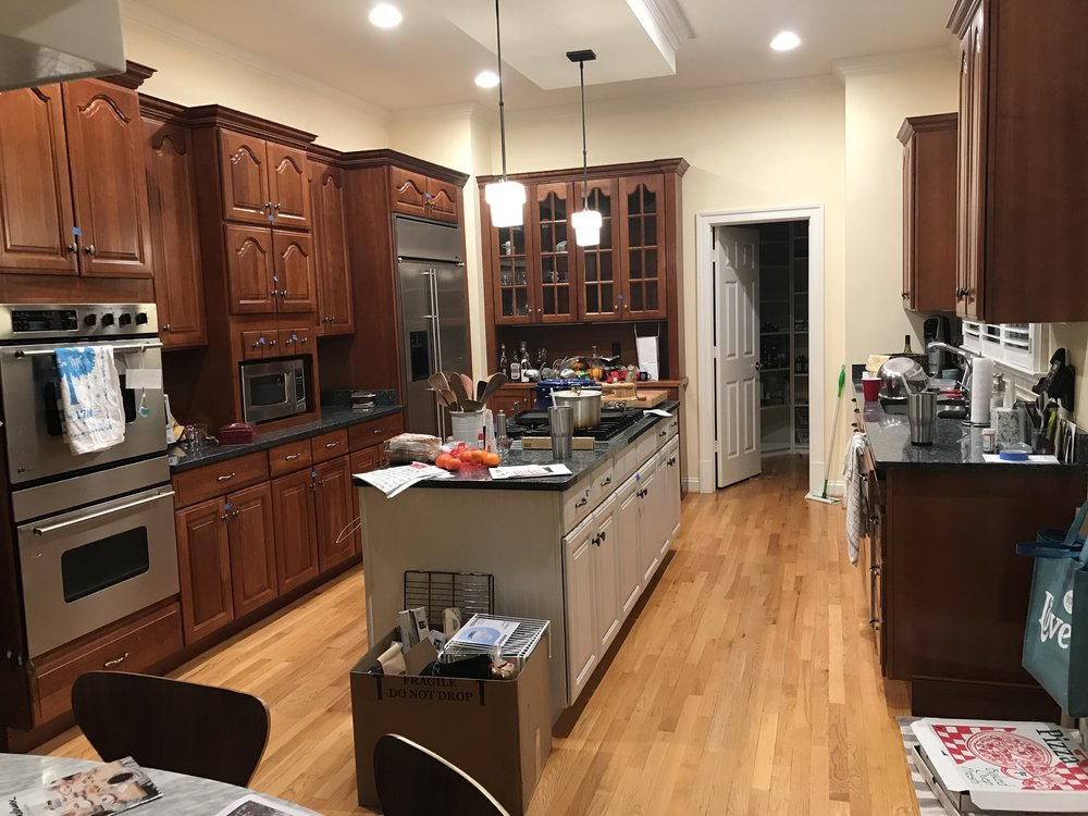 In Any Case, What Was A Whole Kitchen (albeit Messy And In Mid Pack) On  Monday Night Is Now A Hammered, Chiseled, Sawed Room Of Gaping Holes And  Capped ...