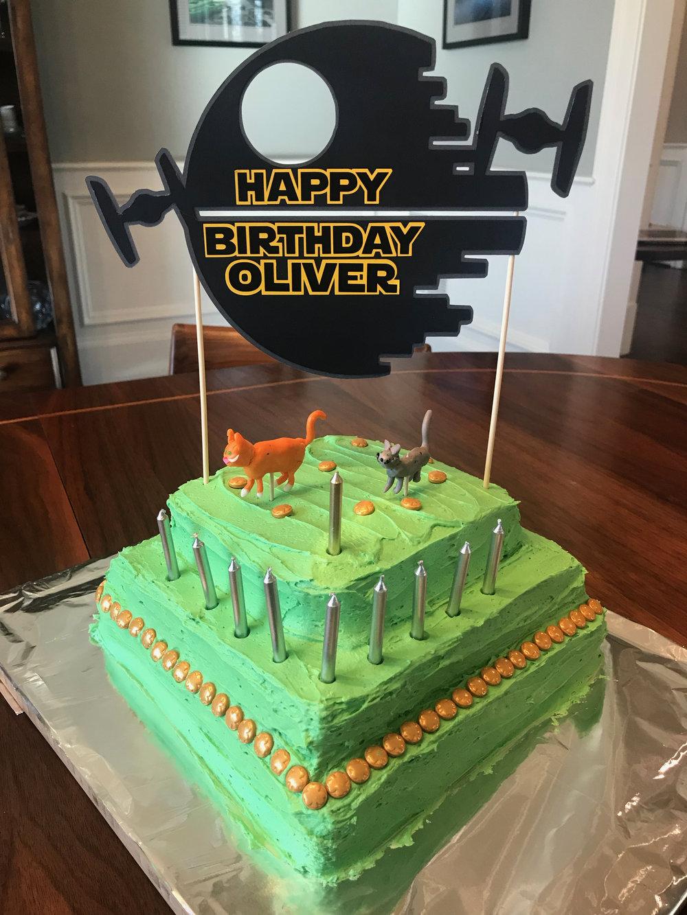 Ol's 10th birthday cake