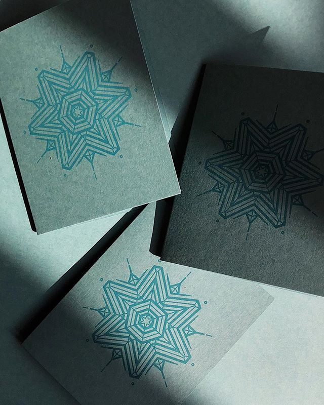 Snowflake Greeting Cards ❄️ #letterpress
