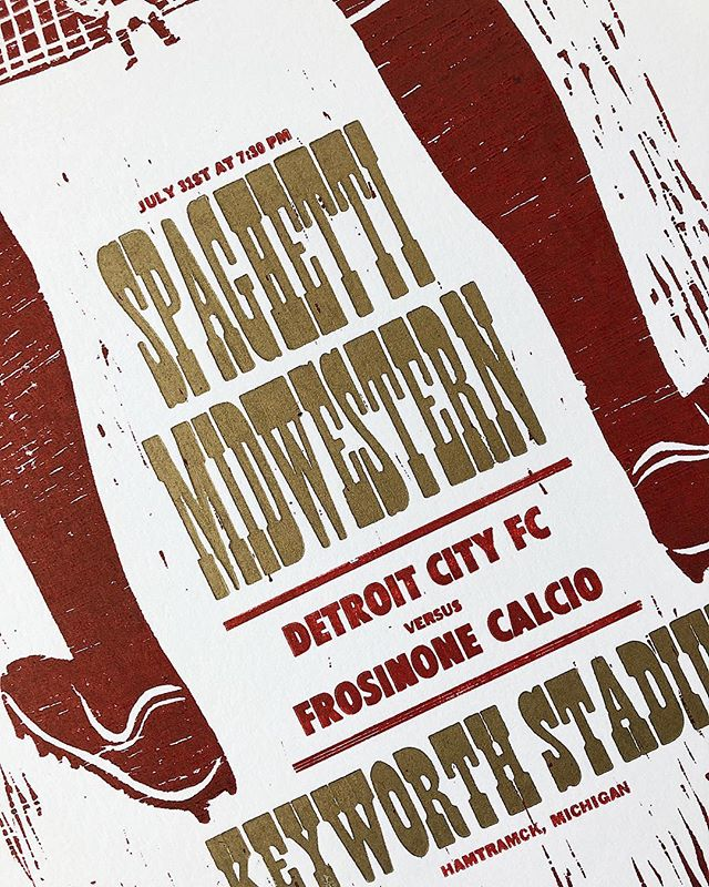 Limited edition of 50 prints for @detroitcityfootballclub's last game of the season.