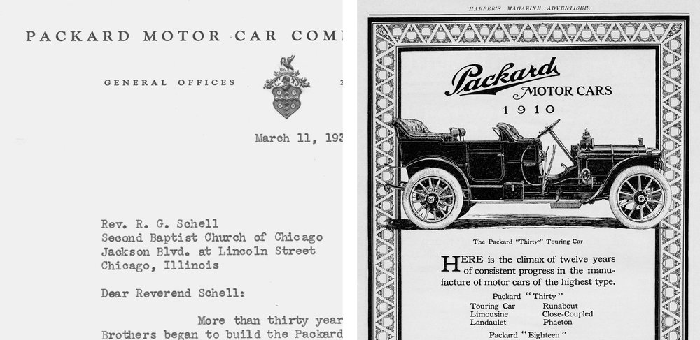 Graphic inspiration:  Vintage Packard Motor Company documents + advertising