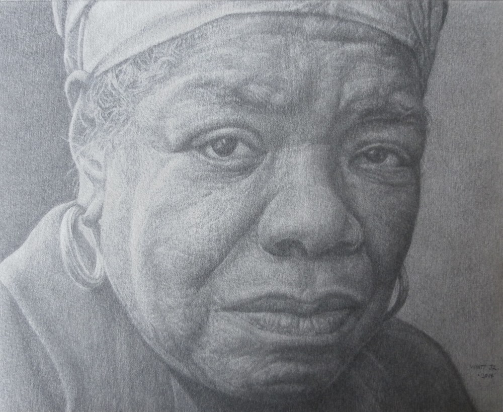 """Maya II""    2014 Pencil on wove paper   8 ⅛ x 10 inches   © Richard Wyatt Jr."