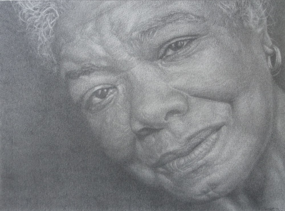 """Maya Angelou""    2014 Pencil on wove paper   8 ½ x 11 ½ inches   © Richard Wyatt Jr."