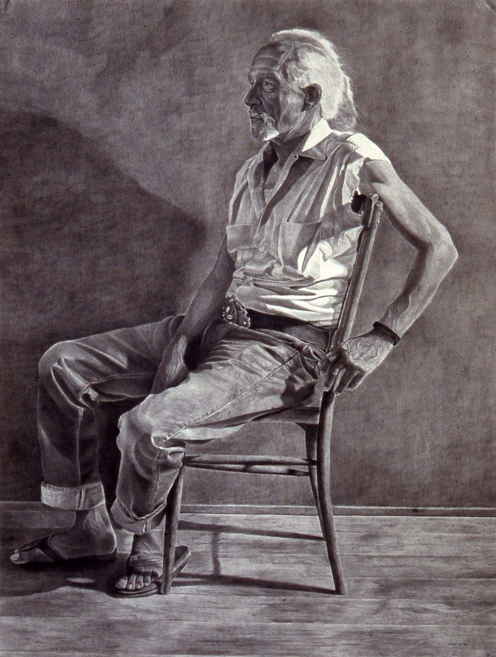 """Roland Welton""    1981 Pencil on wove paper   38 x 51 inches   © Richard Wyatt Jr."