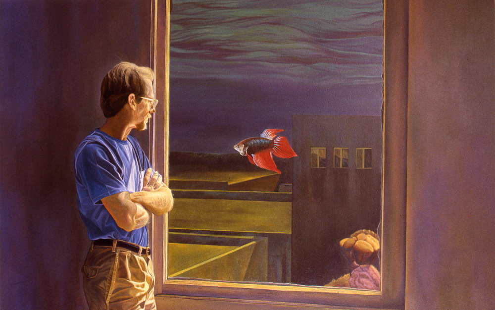 """Terry's View""    1989 Oil on canvas   48 x 72 inches   © Richard Wyatt Jr."