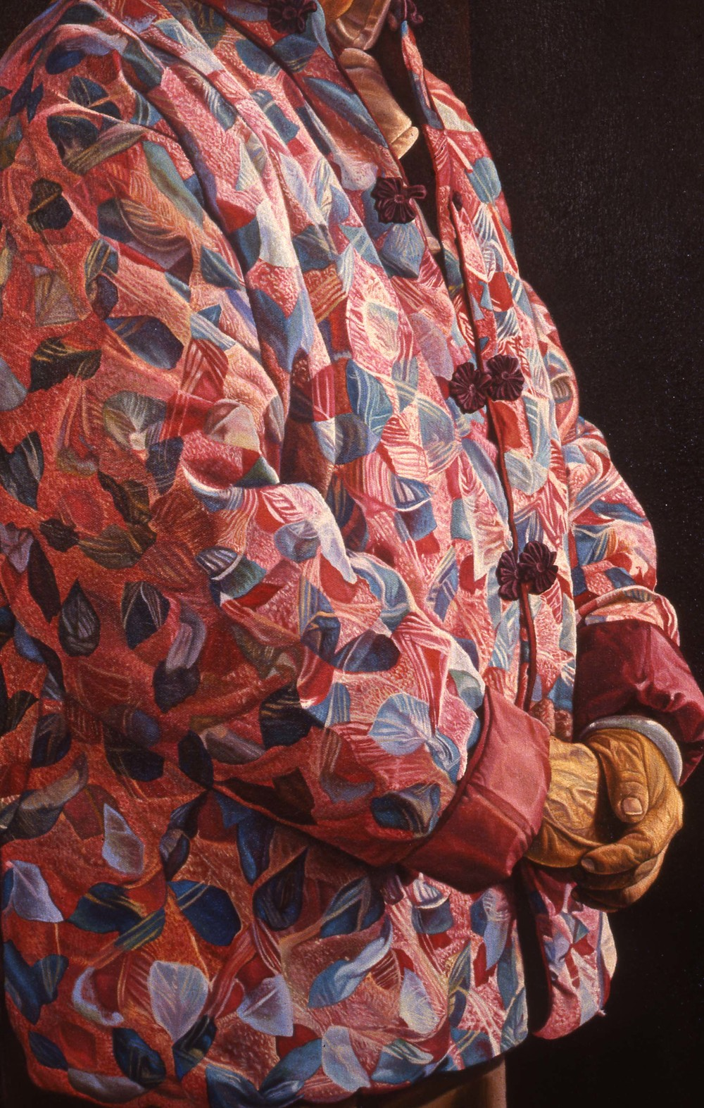 """Things Which Are Seen Are Temporal"", Detail    1988 Oil on canvas   72 x 48 inches   © Richard Wyatt Jr."
