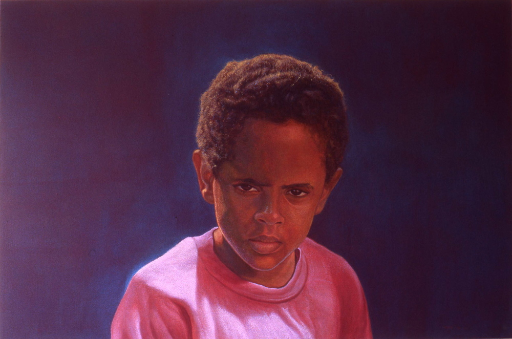 """Zelek's Mood""     1999 Acrylic on canvas   24 x 36 inches   © Richard Wyatt Jr."
