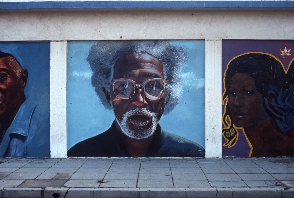 """Roland"" Mural    1976 Enamel paint on concrete   10 x 10 feet   © Richard Wyatt Jr."