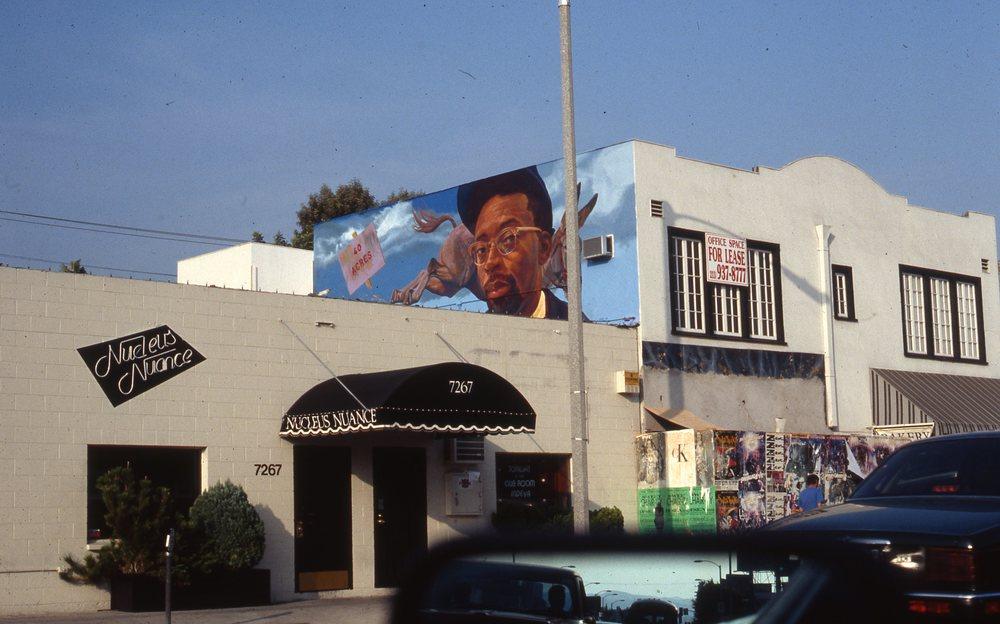 """Spike Lee Project""    1992 Acrylic on concrete   11 x 30 feet   © Richard Wyatt Jr."