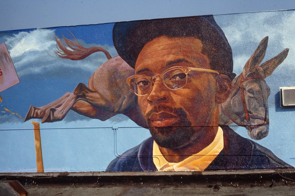 """Spike Lee Project"", Detail    1992 Acrylic on concrete   11 x 30 feet   © Richard Wyatt Jr."