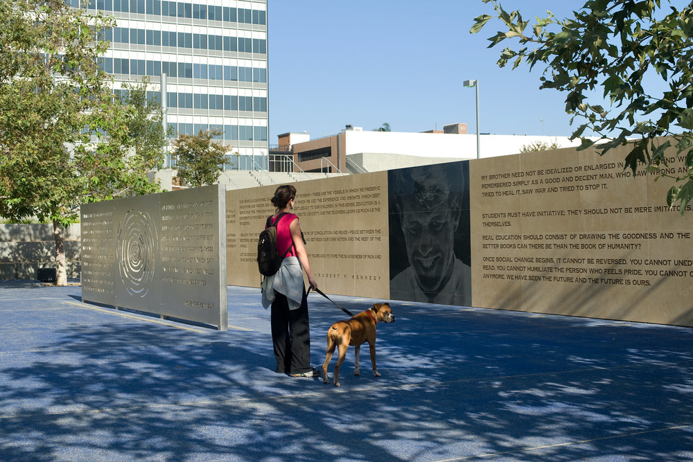 """Robert F. Kennedy Inspiration Park"", Angle view     (Collaboration with artist May Sun)    2010"